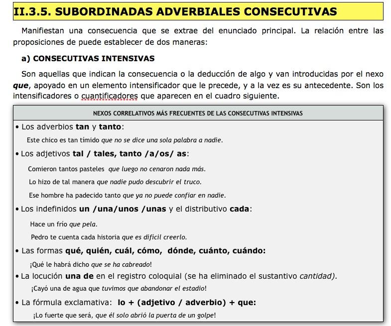 10. ADVERBIALES CONSECUTIVAS INTENSIVAS