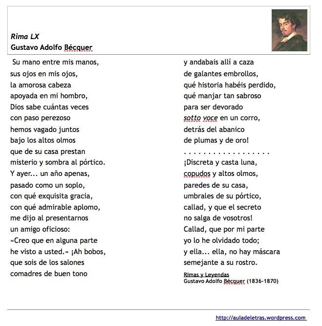 poema bécquer